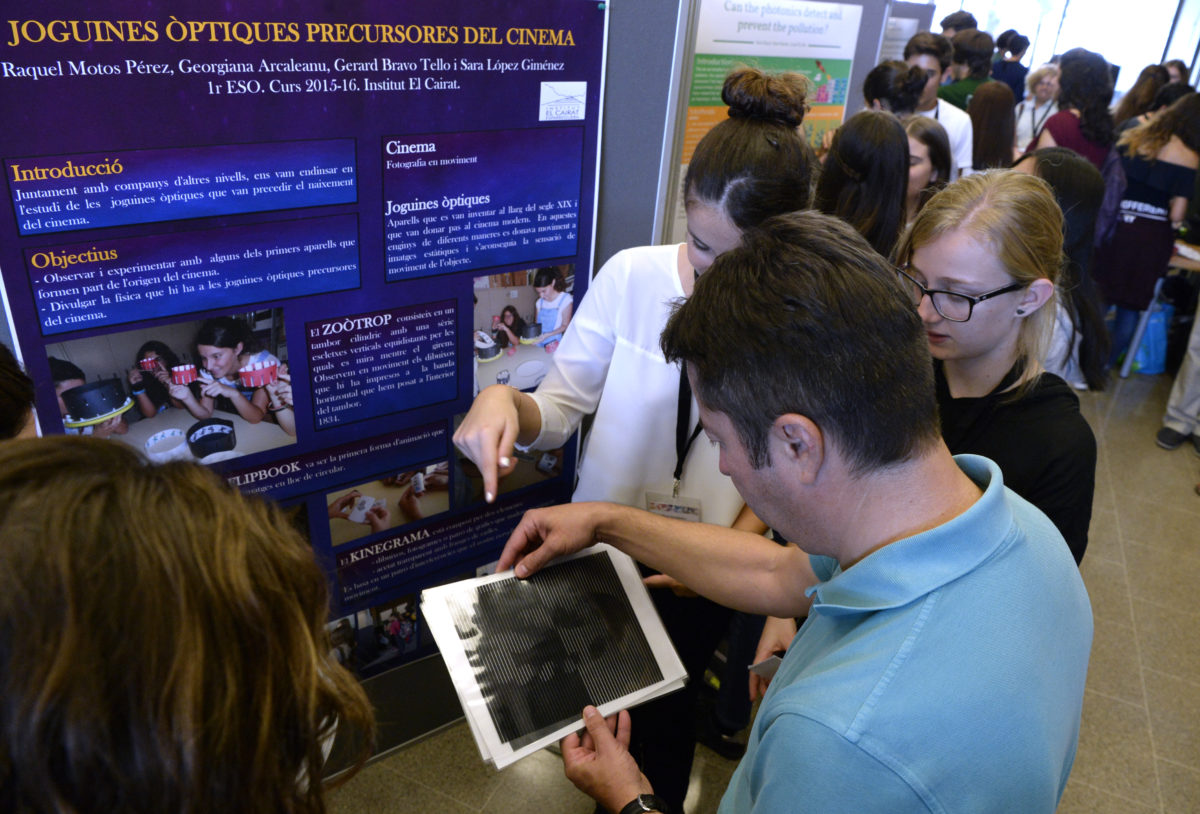 2nd edition of the Young Photonic Congress in Barcelona encourages secondary school students to present light related research studies
